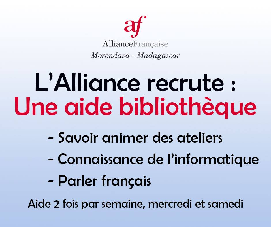 Alliance francaise recrutement