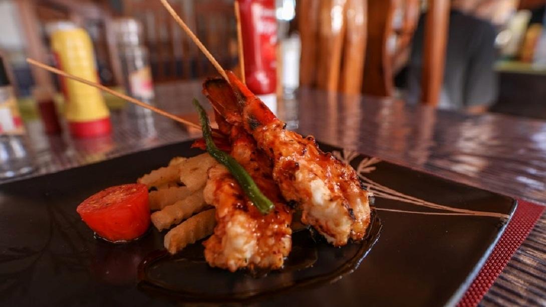 Cap kimony grillade de crustaces