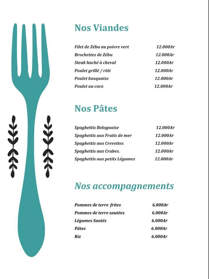 Cheval de mer menu plat