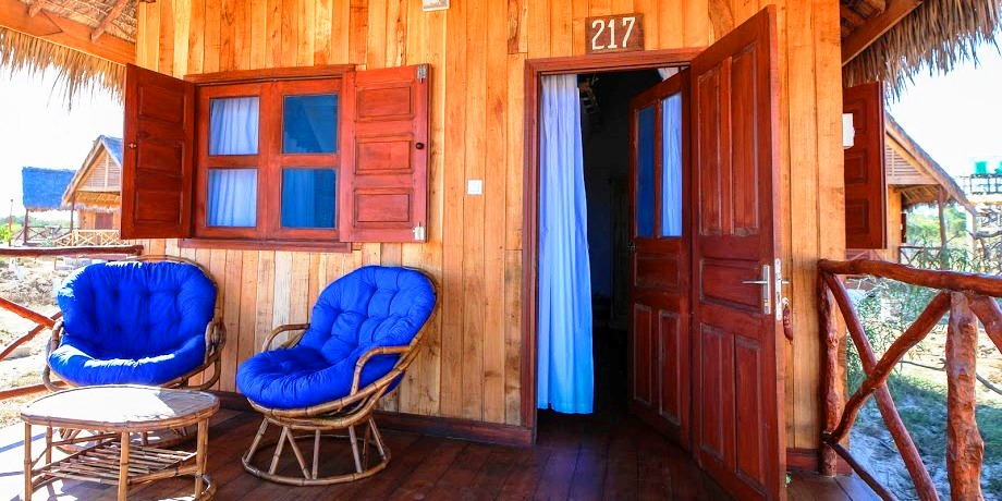 Terrasse bungalow cap kimony morondava